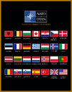 Nato members member countries alphabetically list with flags Stock Photos