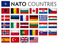Nato memebr countries member isolated flags Stock Images