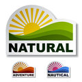 Natural adventure nautical stickers Stock Photography