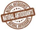 Natural antioxidants brown grunge round rubber stamp Royalty Free Stock Photo