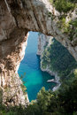 Natural Arch in Capri, Italy Royalty Free Stock Photography