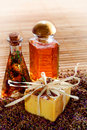 Natural Aromatherapy Soap Bar and Fragrance Oils Stock Photography