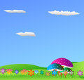 Natural background this is cool vector illustration Stock Photography