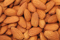 Natural background made kernel almonds Stock Photography