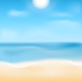 Natural background waterscape sea ​​blue waves and sand Stock Photo
