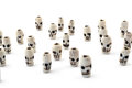 Natural beads skull from carved bone on white background Royalty Free Stock Photo