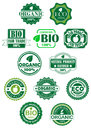 Natural and bio labels for retail or sale design Royalty Free Stock Photography