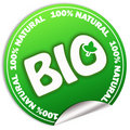 Natural bio sticker Royalty Free Stock Photo