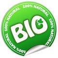 Natural bio sticker Royalty Free Stock Photo