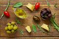 Natural black and green olives with herbs