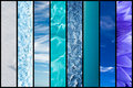 Natural blue gradation collage nature Royalty Free Stock Photos