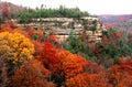 Natural bridge park in fall Stock Images
