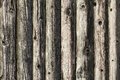 Natural brown log cabin wood wall. Wall texture background pattern. Royalty Free Stock Photo