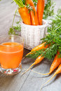 Natural carrot juice Royalty Free Stock Image