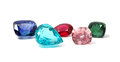 Natural Colored Gemstones Royalty Free Stock Photo