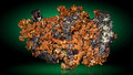 Natural copper crystals. Royalty Free Stock Photo
