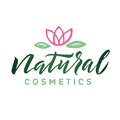 Natural Cosmetics. Logo Beauty Vector Lettering. Custom handmade calligraphy. Vector Illustation