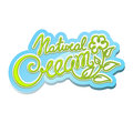 Natural cream label handwritten calligraphic Royalty Free Stock Image