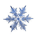 Natural crystal snowflake macro piece of ice Royalty Free Stock Photo