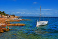 Natural docks punta de sa pedrera formentera balearic islands spain Royalty Free Stock Image