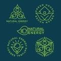 Natural energy logo Royalty Free Stock Photo