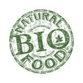Natural food rubber stamp Stock Images