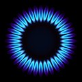 Natural gas flame vector illustration Stock Photos