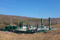 Natural gas gathering station a in pennsylvania for marcellus shale Royalty Free Stock Images
