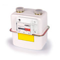 Natural gas meter on white background including clipping path all copyrighted elements removed Royalty Free Stock Images
