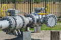 Natural gas pipeline central pumping and inspection of Royalty Free Stock Photos