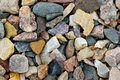 Natural gravel background close up color Royalty Free Stock Photo