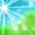 Natural green abstract background with sparcles Stock Photo