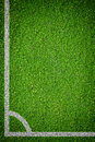 Natural green grass soccer field closeup image of Royalty Free Stock Images
