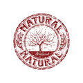 Natural grunge rubber stamp Royalty Free Stock Photography