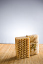 Natural hand crafted soap. Royalty Free Stock Photography