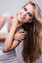 Natural health beauty of a woman face photo Stock Image