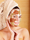 Natural homemade clay  facial masks . Stock Images