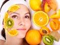 Natural homemade fruit  facial masks . Stock Photo