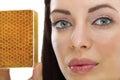 Natural homemade organic facial masks of honey Royalty Free Stock Photo