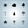 Natural icons nature over blue background vector illustration Royalty Free Stock Image