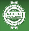 Natural Ingredients Badge Royalty Free Stock Photography