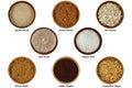 Natural Ingredients to Make Facial / Body Scrub Royalty Free Stock Photo