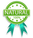 Natural label Royalty Free Stock Photography