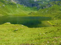 Natural lake in the mountains a surrounded by Royalty Free Stock Photography