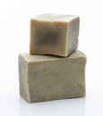Natural laurel soap bars Royalty Free Stock Photo