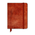Natural leather notebook copybook with band and bookmark vector Stock Image