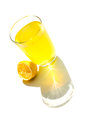 Natural lemonade a glass of Royalty Free Stock Photo