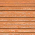 Natural old wood fence planks, wooden close board texture, overlapping light reddish brown closeboard terracotta background Royalty Free Stock Photo