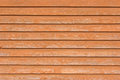 Natural old wood fence planks wooden close board texture, overlapping light reddish brown horizontal closeboard terracotta pattern Royalty Free Stock Photo