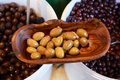 Natural olives for sale gourmet on provence market of south france Stock Images